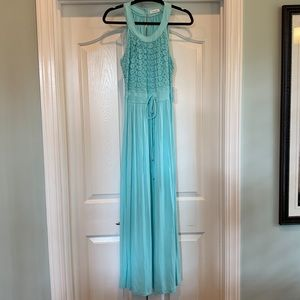 NWT Calvin Klein Aqua Maxi Dress